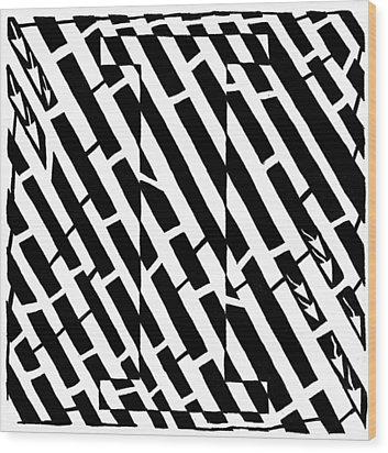iMaze Wood Print by Yonatan Frimer Maze Artist