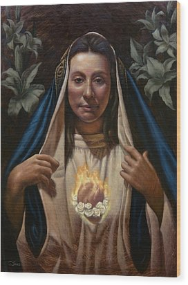 Immaculate Heart Wood Print by Timothy Jones