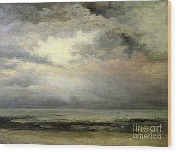 Immensity Wood Print by Gustave Courbet