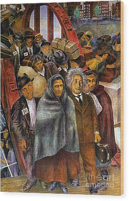 Immigrants, Nyc, 1937-38 Wood Print by Granger