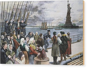 Immigrants On Ship, 1887 Wood Print by Granger