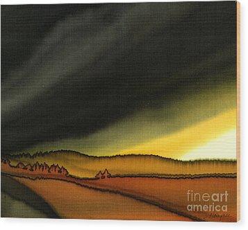 Impending Storm Wood Print by Addie Hocynec
