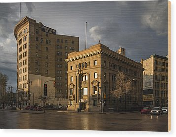 Imperial Bank Of Canada/confederation Building Wood Print by Bryan Scott