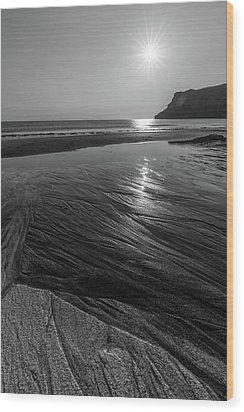 Wood Print featuring the photograph Impression From Talisker Beach by Davorin Mance