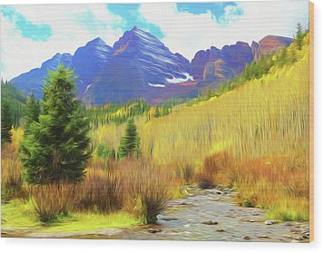 Wood Print featuring the photograph Impression, Maroon Bells by Eric Glaser