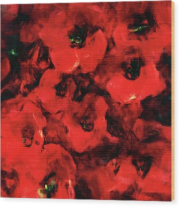 Impression Of Poppies Wood Print