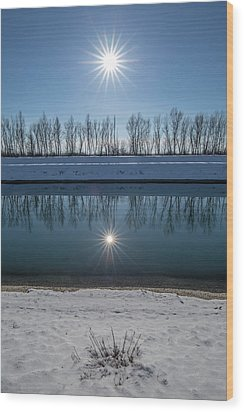 Wood Print featuring the photograph Impression Of Reflection by Davorin Mance