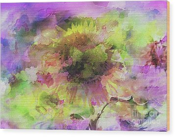 Impression Sunflower Wood Print