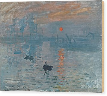 Impression Sunrise Wood Print