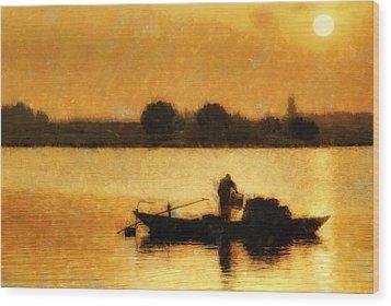 Impressionist Dawn Wood Print
