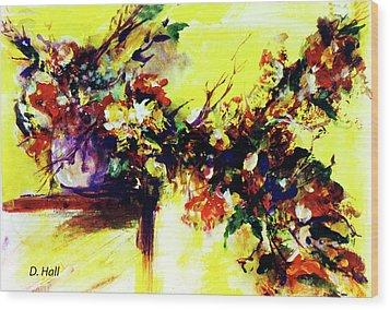Impressionist Flowers #112, Wood Print by Donald k Hall