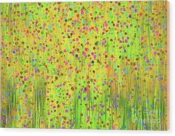 Impressionist Meadow Wood Print by Silvia Ganora