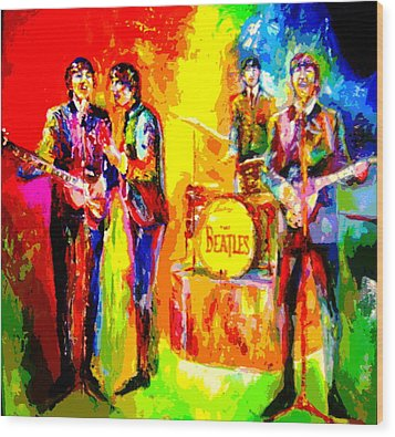 Impressionistc Beatles  Wood Print by Leland Castro