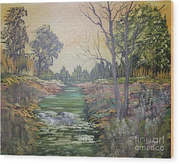 Impressions In Oil - 1 Wood Print by Bill Turck