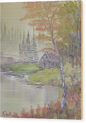 Impressions In Oil - 10 Wood Print by Bill Turck