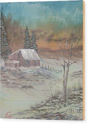 Impressions In Oil - 3 Wood Print by Bill Turck