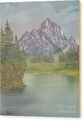 Impressions In Oil -13 Wood Print by Bill Turck