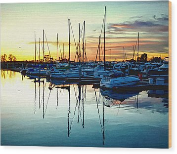 Wood Print featuring the photograph Impressions Of A San Diego Marina by Glenn McCarthy Art and Photography