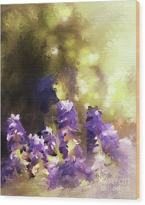 Wood Print featuring the digital art Impressions Of Muscari by Lois Bryan