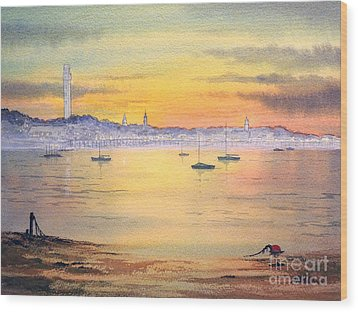 Wood Print featuring the painting Impressions Of Provincetown by Bill Holkham