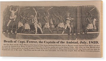 In 1839 Fifty-four African Captives Wood Print by Everett