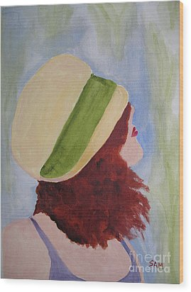 Wood Print featuring the painting In A Breeze by Sandy McIntire