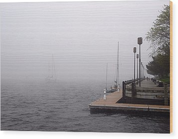 In A Fog In Newburyport Wood Print by AnnaJanessa PhotoArt