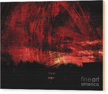 In A Red World Wood Print
