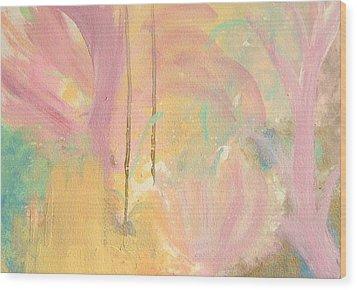 In Bloom Wood Print by Helene Henderson