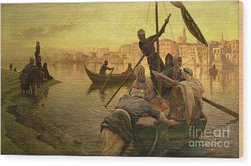 In Cairo Wood Print by Joseph Farquharson