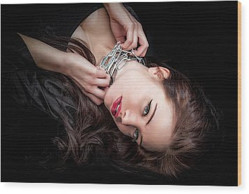 In Chains Wood Print by Rikk Flohr