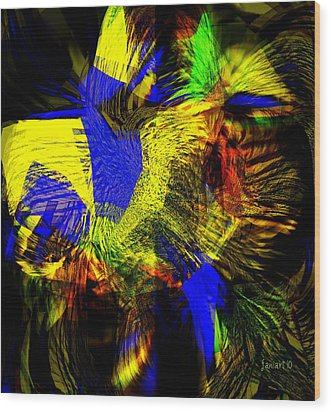 In Chaos - Yet Here Is My Praise Wood Print by Fania Simon