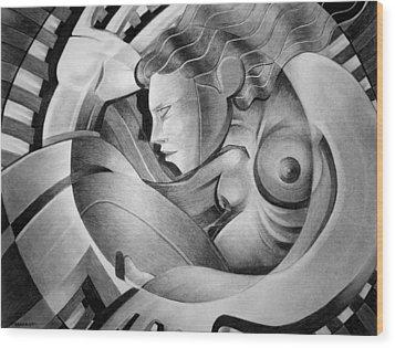 In Circle Wood Print