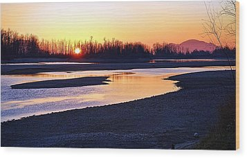The Fraser River Wood Print by Heather Vopni
