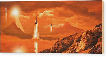Wood Print featuring the photograph In Defense Of The Orange Planet by Anthony Citro