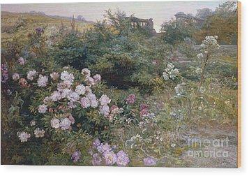 In Full Bloom  Wood Print by Henry Arthur Bonnefoy