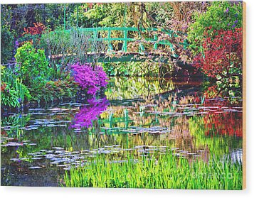 In Giverny Wood Print by Olivier Le Queinec