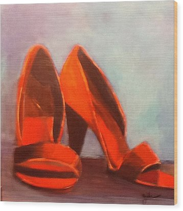 In Her Shoes Wood Print