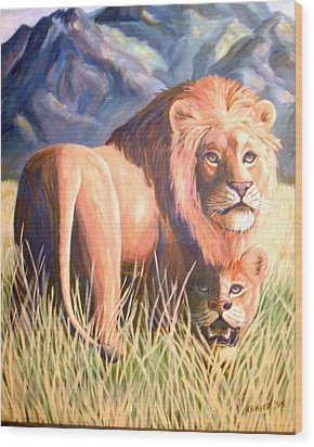 In Lions Time Wood Print