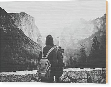 Yosemite Love Wood Print by JR Photography