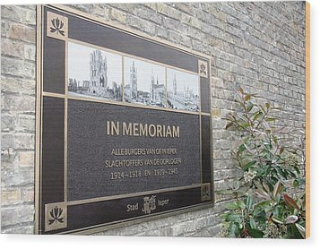 Wood Print featuring the photograph In Memoriam - Ypres by Travel Pics