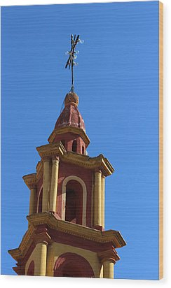 In Mexico Bell Tower Wood Print by Cathy Anderson
