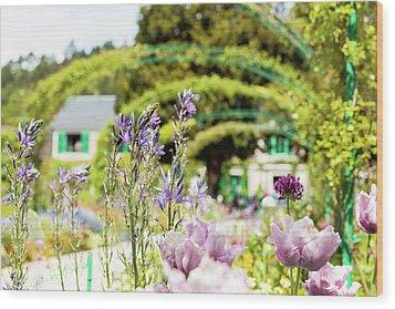 In Monet's Garden Wood Print