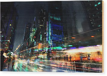 In Motion Wood Print by Philip Straub