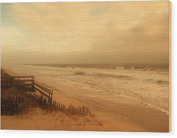 In My Dreams The Ocean Sings - Jersey Shore Wood Print