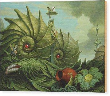 In My Garden Wood Print by Jim Thiesen