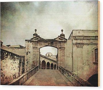 In Old San Juan Wood Print by Julie Palencia