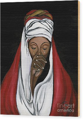 In Prayer  Wood Print by Toni  Thorne
