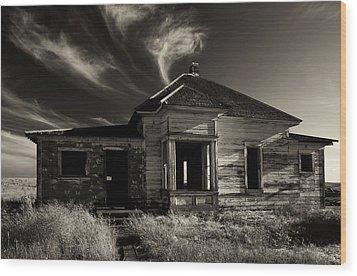 In Ruin Wood Print by Mike  Dawson
