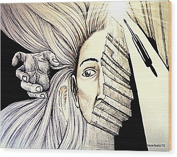 In Search Of The Soul Wood Print by Paulo Zerbato